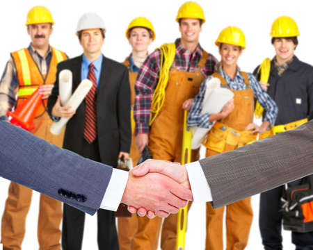 construction company: Business handshake  Stock Photo
