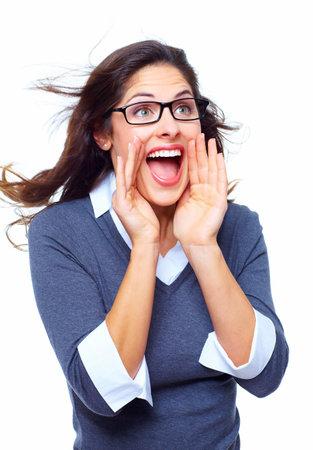 Happy Business woman  Success  photo