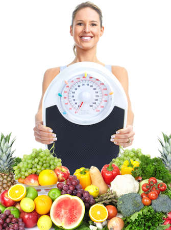 vitamins: Healthy woman