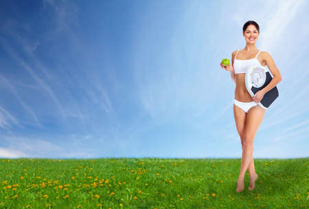 Young beautiful fitness woman Stock Photo - 18893642