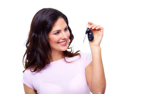 Woman with a car keys  Stock Photo - 18358019