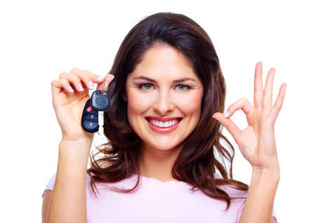 Woman with a car keys  Stock Photo - 18358021