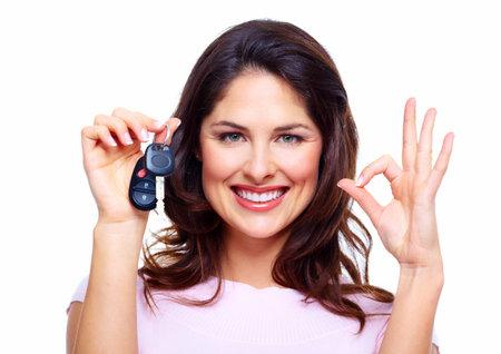 Woman with a car keys Stock Photo - 18358021