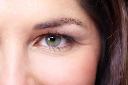 Beautiful young woman eye portrait Stock Photo - 18358052