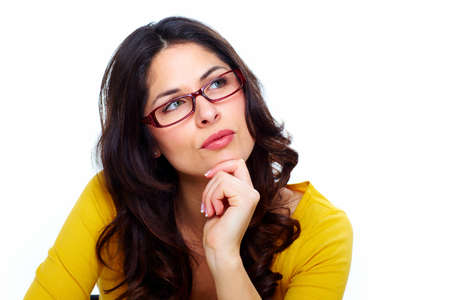 Beautiful young woman wearing glasses  Stock Photo - 18388131