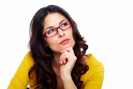 Beautiful young woman wearing glasses Stock Photo - 18388131