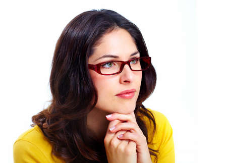 Beautiful young woman wearing glasses  Stock Photo - 18388145