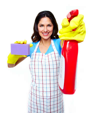 Young smiling cleaner woman  photo
