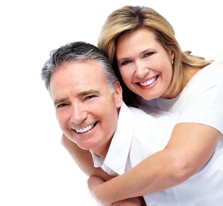 odontologia: Feliz pareja senior