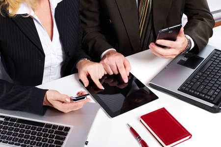 Business people group working with laptop Stock Photo - 18452134