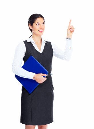 alzando la mano: Mujer de negocios