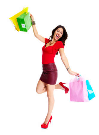 happy shopping: Shopping woman
