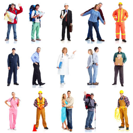 Group of workers people set Stock Photo - 18452058