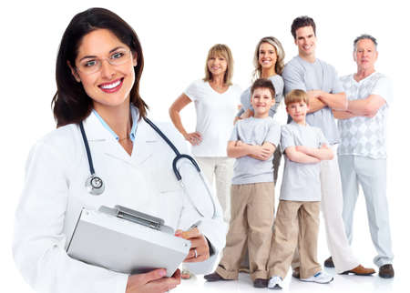 practice: Family doctor woman  Health care  Stock Photo