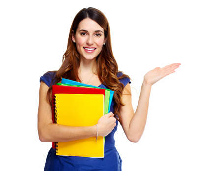Young woman student with a book  Stock Photo - 18491990