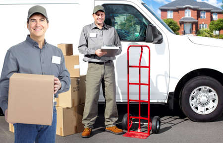 Delivery postman  Stock Photo