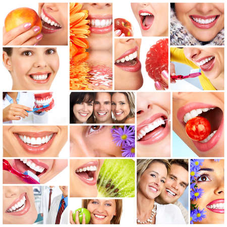 dental doctor: Beautiful woman smile