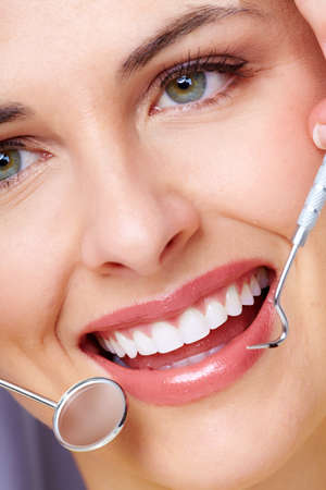 dentistry: Beautiful woman smile