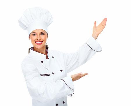 Chef woman  Stock Photo