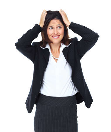 Young woman having a stress  photo