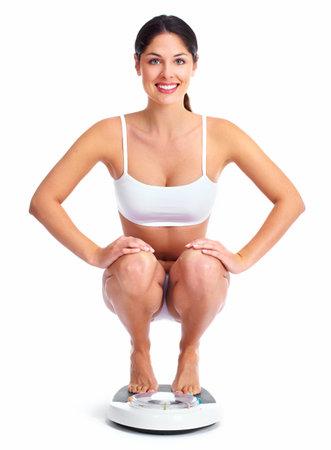 cintura perfecta: Mujer joven hermosa aptitud