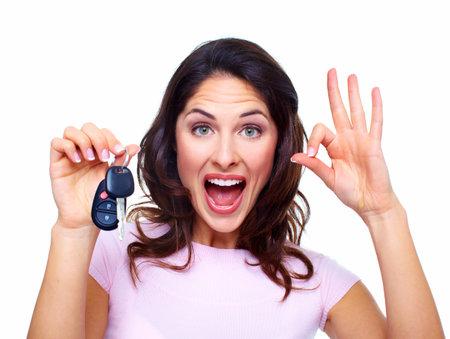 car keys: Woman with a car keys  Stock Photo