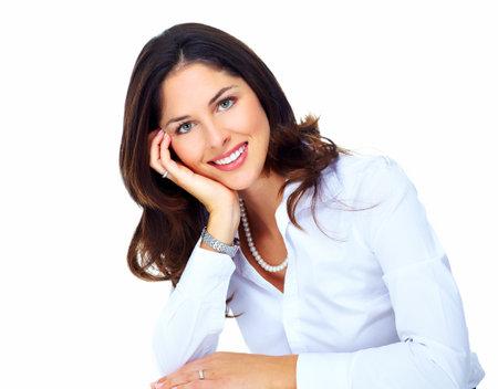 woman: Beautiful young business woman