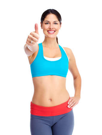 fat loss: Young happy woman  Stock Photo