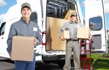 Delivery postman  Banco de Imagens