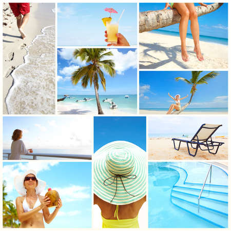 Exotic luxury resort collage