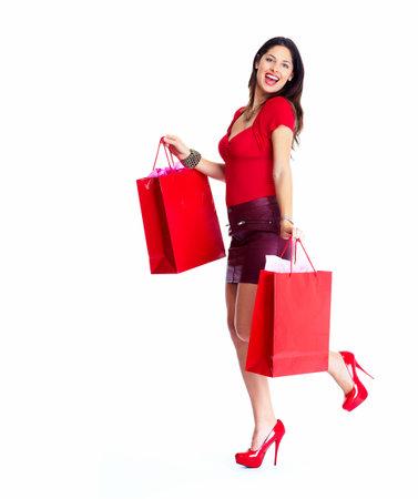 beauty shop: Shopping woman