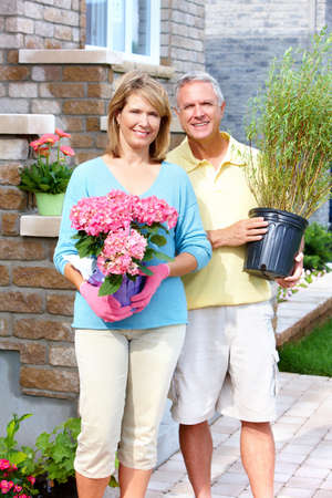 retirement couple: Gardening couple