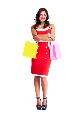 Beautiful woman with a shopping bags  Stock Photo - 18889269