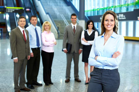 Business woman and a group of workers  Stock Photo - 18572892