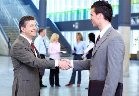 businessmen handshake: Business meeting