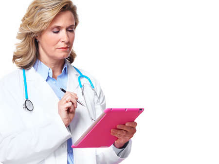 Medical doctor woman with tablet computer  photo