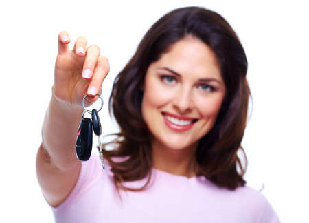 Woman with a car keys  Stock Photo - 18576339