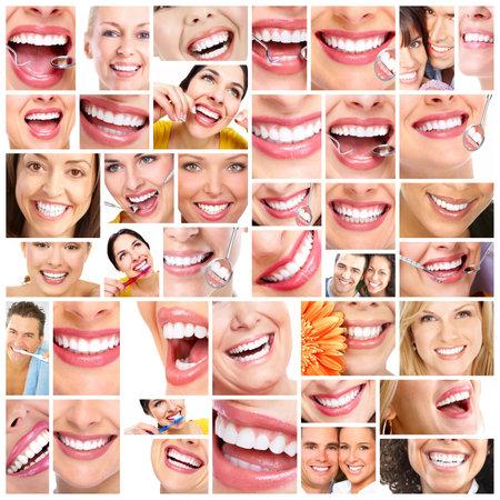 dolor de muelas: Sonrisa hermosa de la mujer