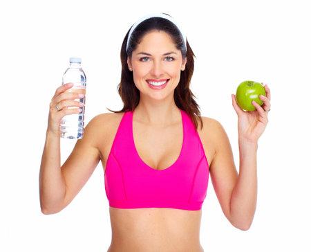 Young beautiful fitness woman  photo