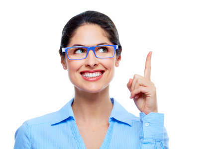 thinking woman: Business woman thinking solution  Stock Photo