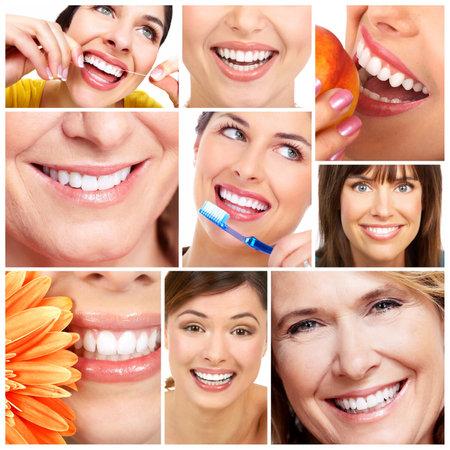 higiene bucal: Sonrisa y dientes Foto de archivo