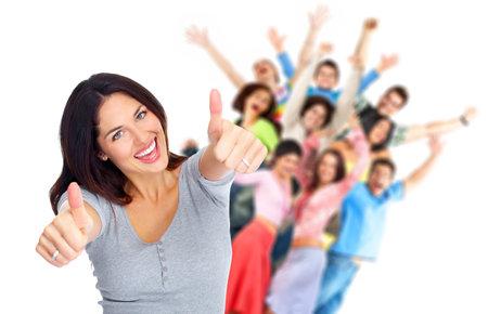 glädje: Lyckliga människor