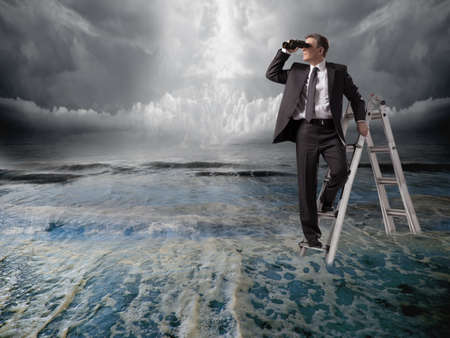 Businessman with binoculars Stock Photo - 18693062