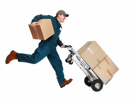Laufen Lieferung Postboten Standard-Bild