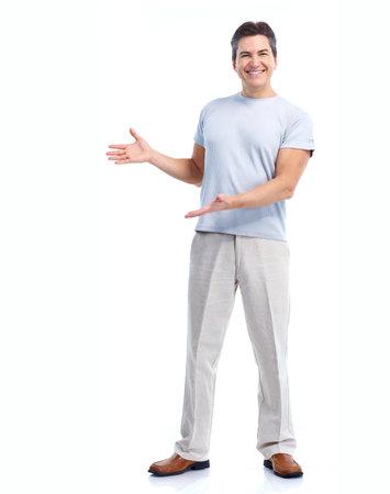 invitando: Hombre feliz