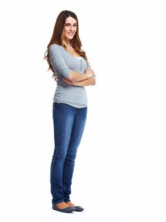 Mooie vrouw portret Stockfoto