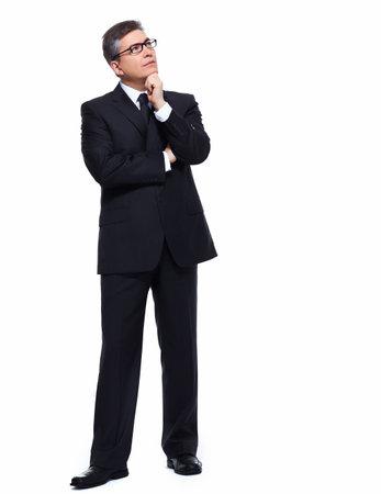 Businessman thinking  Zdjęcie Seryjne
