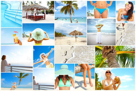 Exotic luxury resort collage  photo