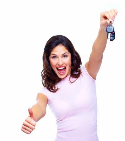 Woman with a car keys Stock Photo - 18763593