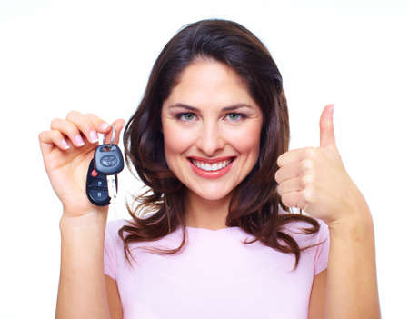 Woman with a car keys  Archivio Fotografico